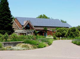 solar panel installation at Quivera Winery